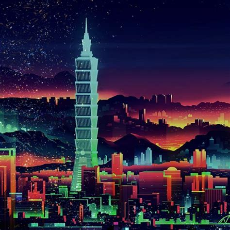 retro neon city  wallpaper engine  wallpaper