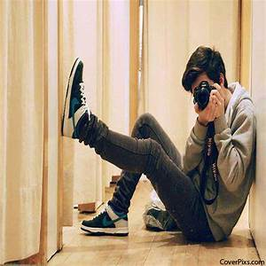 Stylish Boy With Camera Facebook Profile Picture