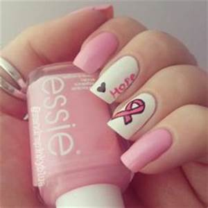 1000+ images about Breast Cancer Awareness Nail Design on Pinterest | Breast Cancer Nails ...
