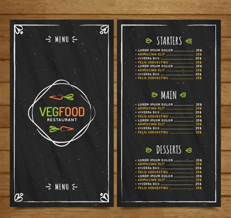 tableau cuisine ardoise 50 free restaurant menu templates food flyers covers