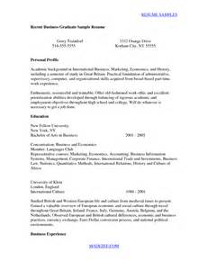new college graduate resume exles sle resume cover letter for recent college graduate recent business graduate by