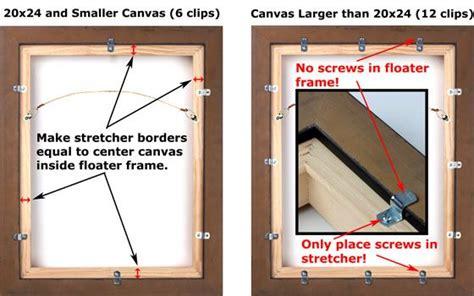 canvas floater frame kit floater frame stretcher mounting framing