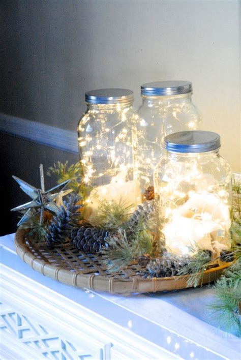 christmas holiday decorating  mason jars