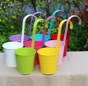 4Pcs Zakka Hanging Flower Pot Removable Hook Wall Pots