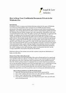 how to keep your confidential documents private in the With documents marked confidential