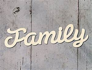 family wooden word letters wall hanging sign plaque ebay With family wooden wall letters