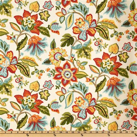 Waverly Fabric Curtain Panels by Waverly Wonderama Floral Toucan Discount Designer Fabric