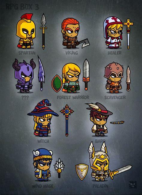 rpg cartoon characters  game art illustrations