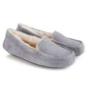 ugg moccasins on sale womens ugg light grey ansley 39 s moccasin