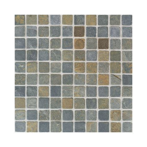 home depot wall tile sheets in x 12 in indian multicolor tumbled slate mounted sheet