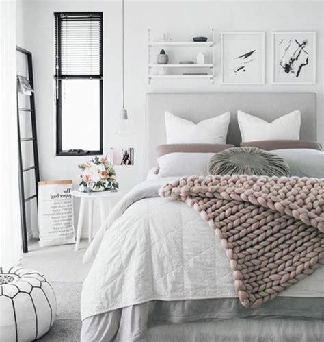 chambre en gris et blanc deco gris et blanc chambre