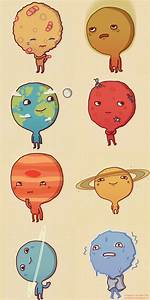 Cute drawings of the planets by Anneka Tran | Charts Space ...