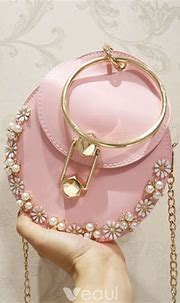 Chic / Beautiful Blushing Pink Pearl Flower Clutch Bags ...
