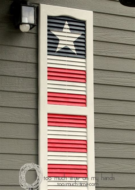 shutter upcycle project flag decor  memorial day