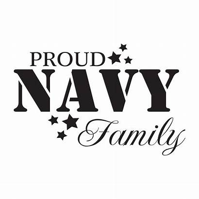 Navy Proud Quotes Decal Wall Stencil Patriotic