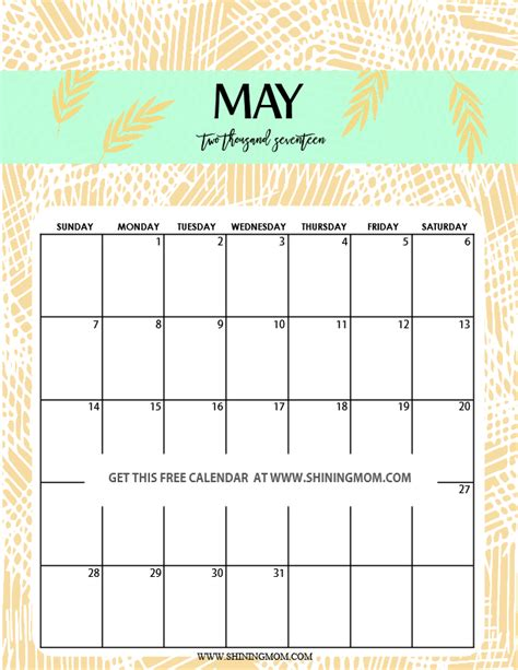 fun  cute  calendar printable