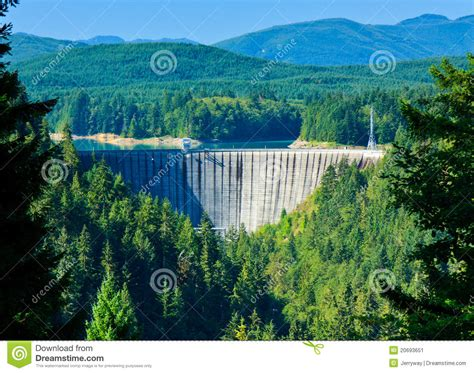 alder dam nisqually river washington stock image image