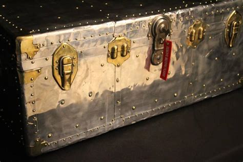 leather trunks for 1950s polished aluminum cabin steamer trunk at 1stdibs 6895