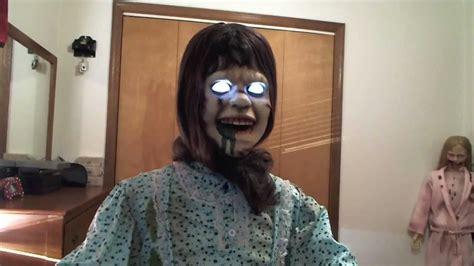 Spirit Halloween Animatronics Youtube by Spirit Halloween The Exorcist Animatronic Regan Youtube