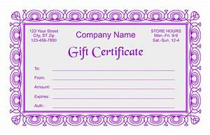 Gift Certificate Template Word Free Download Gift Certificate Template 2
