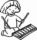 Xylophone Coloring Drawing Pages Getdrawings Activity Glockenspiel Wecoloringpage Printable Instruments Musical Colouring Source Clipartmag sketch template