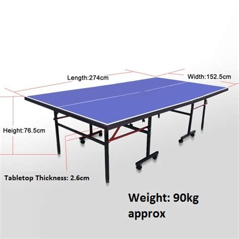 what are the dimensions of a table tennis table vic pick up 25mm pro tournament size table tennis ping