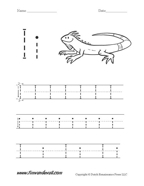 letter i worksheets preschool alphabet printables 603 | Letter I Worksheet 01 1200