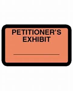 petitioner39s exhibit label orange 252 per pack With court exhibit labels