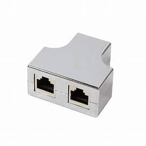 Lan Kabel Verteiler : logilink modularer t adapter rj45 1 2 verteiler metallisiert ~ Orissabook.com Haus und Dekorationen