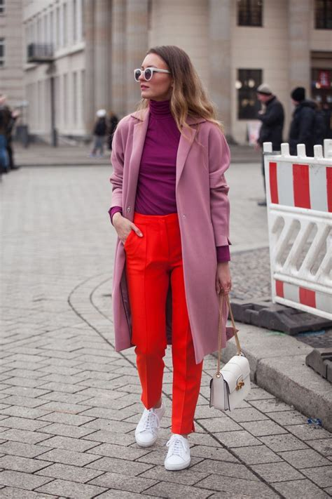 Rosa Und Rot Kombinieren by Streetytsle Color Blocking At Berlin Fashion Week Livia