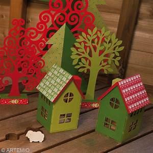 Fabriquer Un Sapin De Noel En Carton : fabriquer un village de no l miniature id es et conseils ~ Nature-et-papiers.com Idées de Décoration
