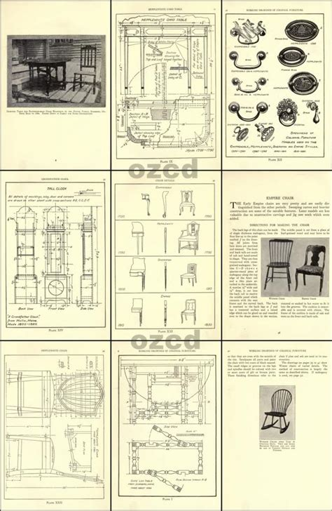 colonial furniture plans easy diy woodworking projects