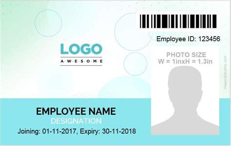 id card template word  professional designs microsoft