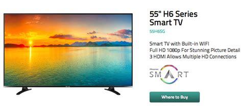 55 in smart tv on sale hisense launches android 4 2 2 powered h6 55 inch smart tv