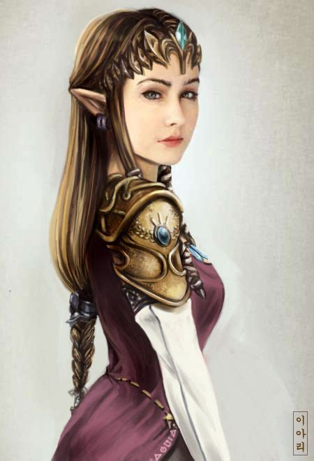 Realistic And Serious Princess Zelda By ~ari Sang Legend