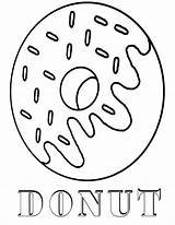 Donut Coloring Pages Printable sketch template