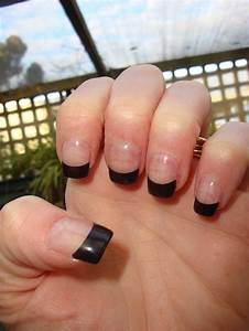 The gallery for --> Round Black Acrylic Nails