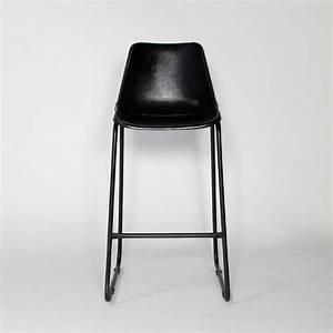 Tabouret De Bar Noir : chaise de bar industrielle cuir et metal dublin noir ~ Melissatoandfro.com Idées de Décoration