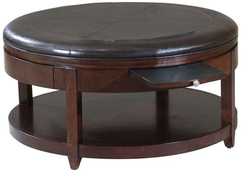 round coffee table with shelf round black leather wood ottoman coffee table with pull