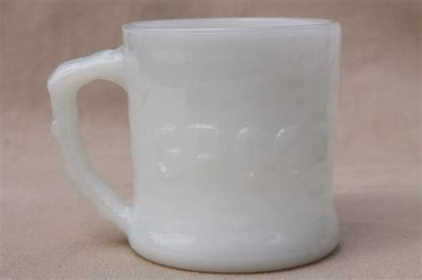 retro vintage milk glass grog mug bc comic strip