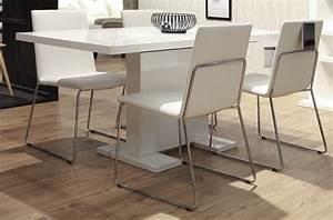 Table A Manger A Rallonge : table manger design laqu blanc rallonges guzu mobilier priv ~ Teatrodelosmanantiales.com Idées de Décoration