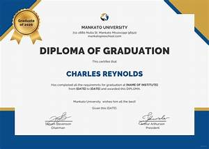 professional certificate template 29 free word format With university graduation certificate template
