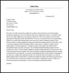 Writing A Cover Letter For Teaching Elementary Cover Letter Itubeapp Net