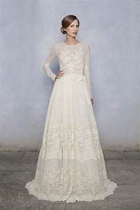 the elegance of lace long sleeve wedding dress ipunya With long lace wedding dress