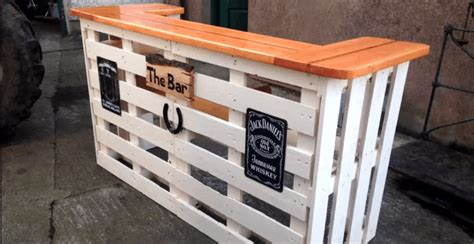Cheap Bar Ideas by 15 Epic Pallet Bar Ideas To Transform Your Space The Saw