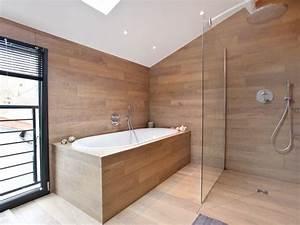 Salle De Bain Grise Et Bois : am nagement chambre et salle de bain ouest home salle ~ Melissatoandfro.com Idées de Décoration