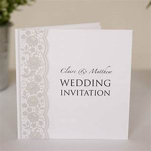 personalised lace wedding invitations by twenty seven With wedding invitations with photo upload