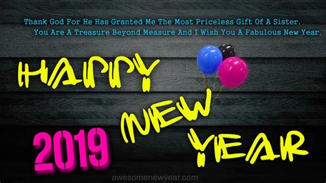Happy New Year 2019 Quotes For Sister