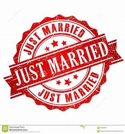 Married Stamp Sposato Appena Bollo Vettore