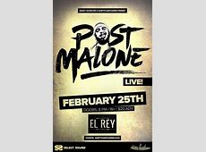 Post Malone • hiphop, R&B at Historic El Rey Theater